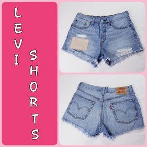 ✔Levi's Shorts factory Distressed booty shorts
